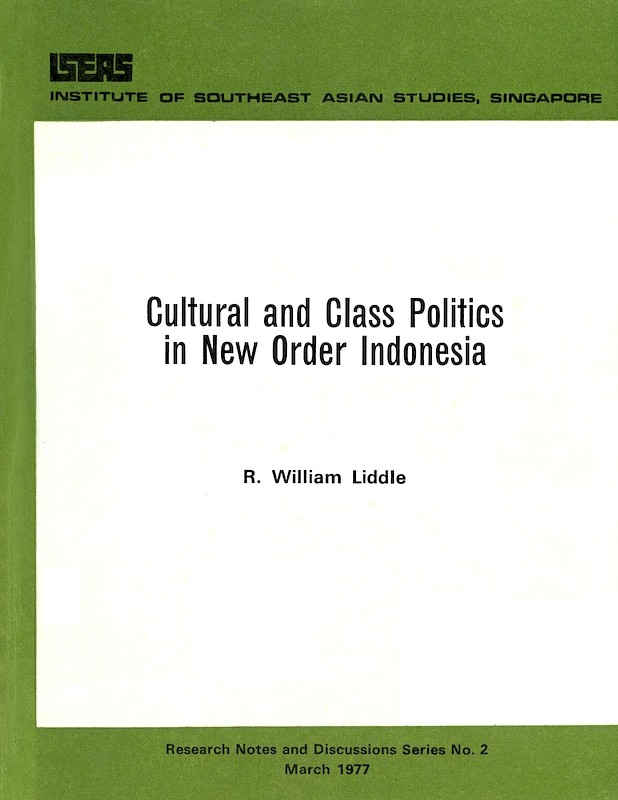 Cultural and Class Politics in New Order Indonesia  bookshop.iseas.edu.sg