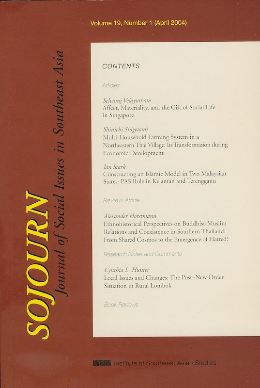 SOJOURN: Journal of Social Issues in Southeast Asia Vol  19/1 (April